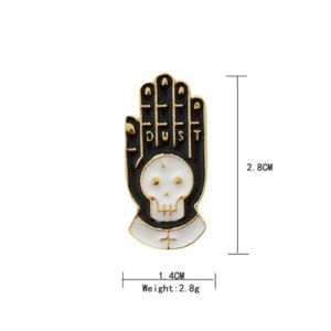 5/$24 Dust Skeleton Hand Pin Brooch